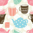 Cups seamless pattern — Stock Vector #45407905