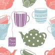 Cups seamless pattern — Stock Vector #46187875