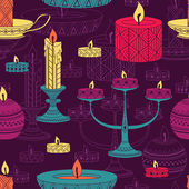 Candles seamless pattern — Stock Vector