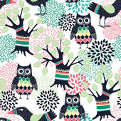 Forest seamless pattern — Stock Vector