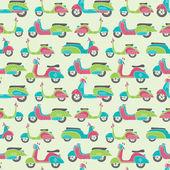 Bikes seamless pattern — Stock Vector