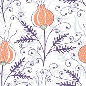 Sorunsuz çiçek desenli — Stok Vektör