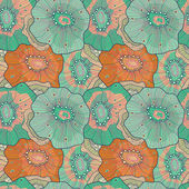 Abstract seamless floral pattern — Stockvektor