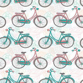 Bicycles seamless pattern — Stock Vector