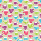 Cups seamless pattern — Stock Vector