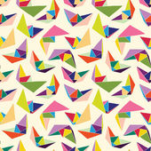 Paper ships seamless pattern — Vetorial Stock