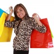Stock Photo: Beautiful Shopping Womholding lot of shopping bags looking