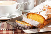 Plumcake on the table — Stock Photo