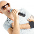 Singer on a white background — Stock Photo #14087873