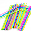 Stock Photo: Colorful drinking straws