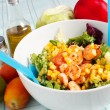 Stock Photo: Fresh salad with shrimp