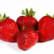 Strawberrys on a white background — ストック写真