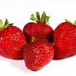 Strawberrys auf weißem Hintergrund — Stockfoto