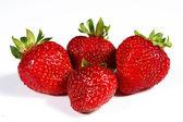 Strawberrys on a white background — Stock Photo