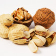 Varieties of nuts — Stockfoto