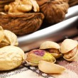 Varieties of nuts - Stock Photo