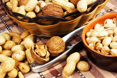 Varieties of nuts — Stock Photo
