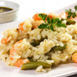 Rice with shrimp - Stockfoto