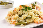 Rice with shrimp — Stock Photo
