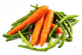Carrots and green beans — Stock Photo