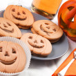 Halloween biscuits - Stock Photo