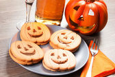 Halloween biscuits — Stock Photo