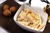 Pasta cream and walnuts — Stock Photo