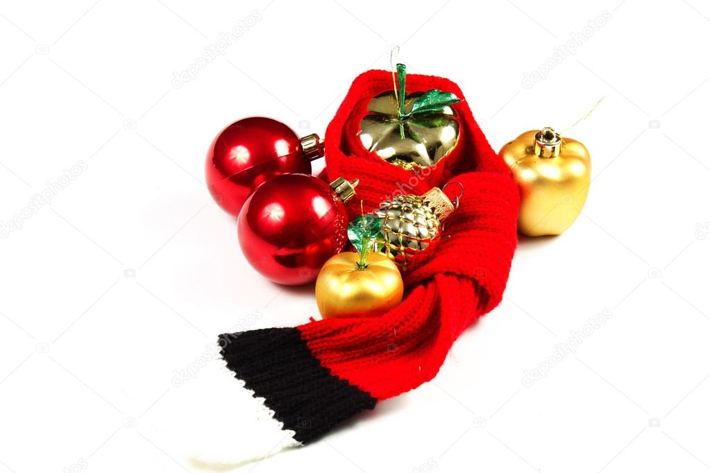 Christmas tree decoration on a white background  Stock Photo #15309249