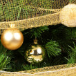 Christmas tree and balls — Stockfoto