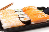 Sushi on white — Stock fotografie