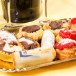 Pastries and cookies — Stock Photo