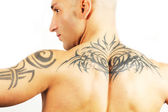 Tattooed man — Stock Photo