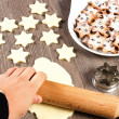 Christmas star cookies  — Stock fotografie