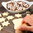 Christmas star cookies  — Foto de Stock
