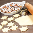 Christmas star cookies  — Stockfoto