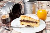 Breakfast on the table — Stock Photo
