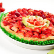 Strawberries, bananas, kiwi cake — Stock Photo