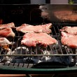 Stock Photo: Meats grilling