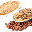Hazelnut and chocolate cookies and cake — Stock Photo