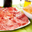 Stock Photo: Variety of processed cold meat products