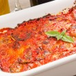 Stock Photo: Eggplants parmigiana traditional italian recipe