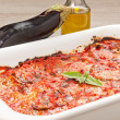 Eggplants parmigiana traditional italian recipe — Stock Photo #31346621