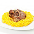 Постер, плакат: Rice with saffron and bovine meat