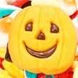 Halloween biscuits and candy — Foto Stock