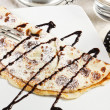 Crepes with cream chocolate — Stock Photo