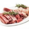 Stock Photo: Meat on white