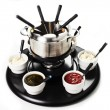 Fondue or bourguignonne — Stock Photo