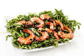 Prawns with rocket — Photo