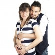 Boy and pregnant girl — Stock Photo #45799521