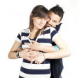 Boy and pregnant girl — Stock Photo #45799607